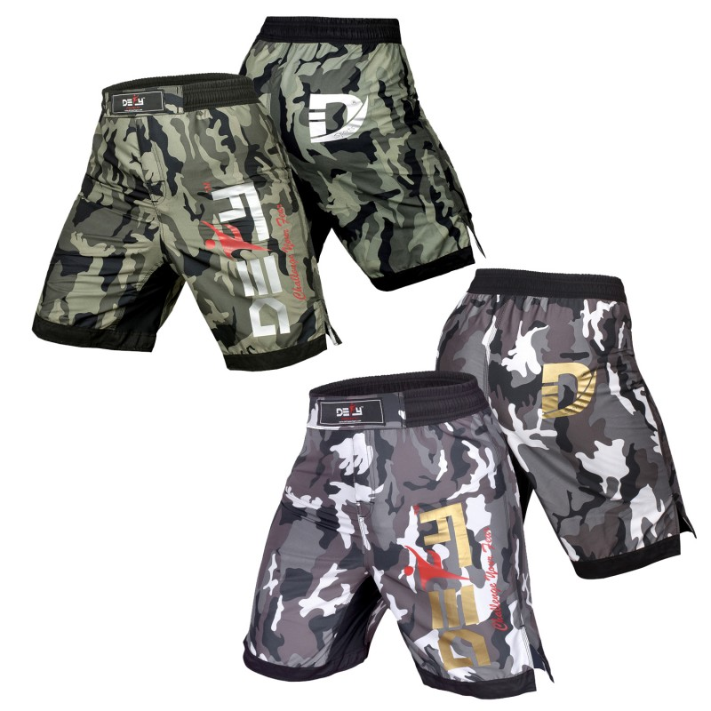 White//Black//Camo NEW MMA Grappling Fight Shorts Kick Boxing UFC Muay Thai BJJ