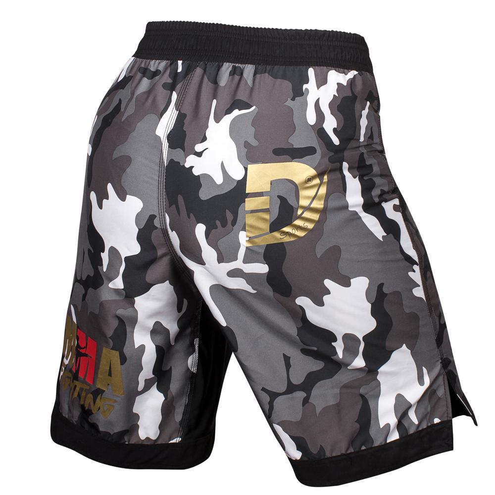 AZ NEW MMA Shorts Fight Short Grappling UFC Cage Kick Boxing Black White