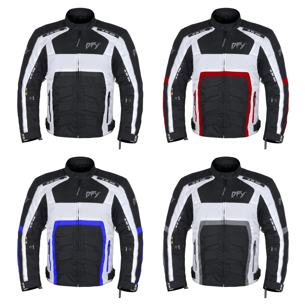 Biker Mesh Jacket CE Approved Cordura Textile 600D Thermal Lining Jackets Blue