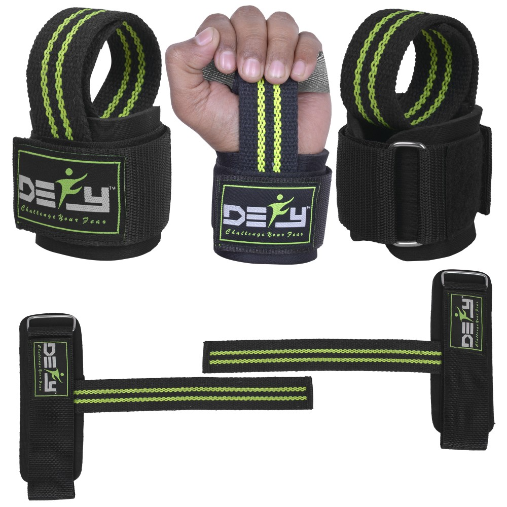 Weight Lifting Wrist Wraps Gym Fitness Training Power Hand Grip Support Straps