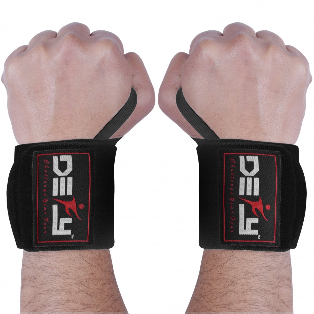 Gym Weight Lifting Wrist Wraps power Hand Support Straps Training Fitness pair