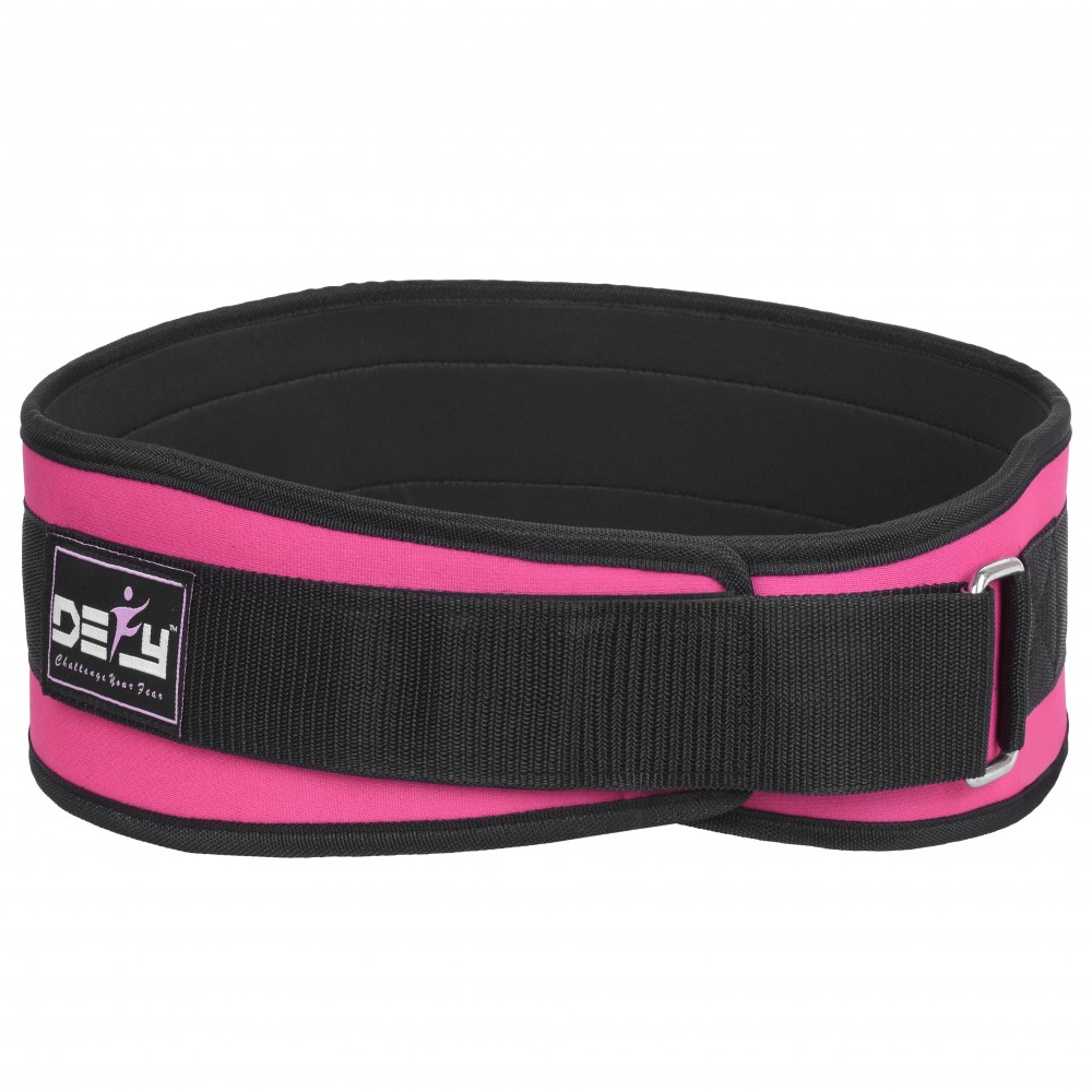 DEFY Weight Lifting Women Belt Back Support Ladies Fitness Gym Bodybuilding Pink